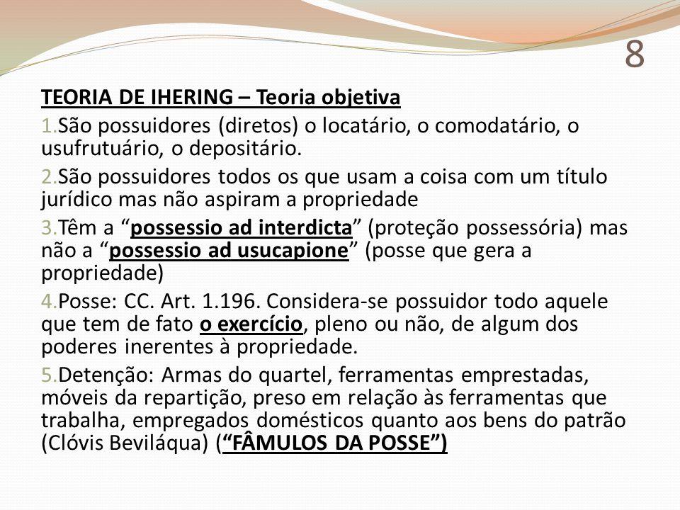 8 TEORIA DE IHERING – Teoria objetiva