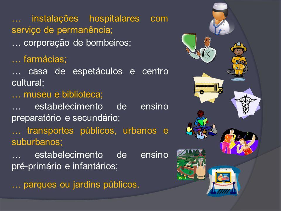 … instalações hospitalares com serviço de permanência;