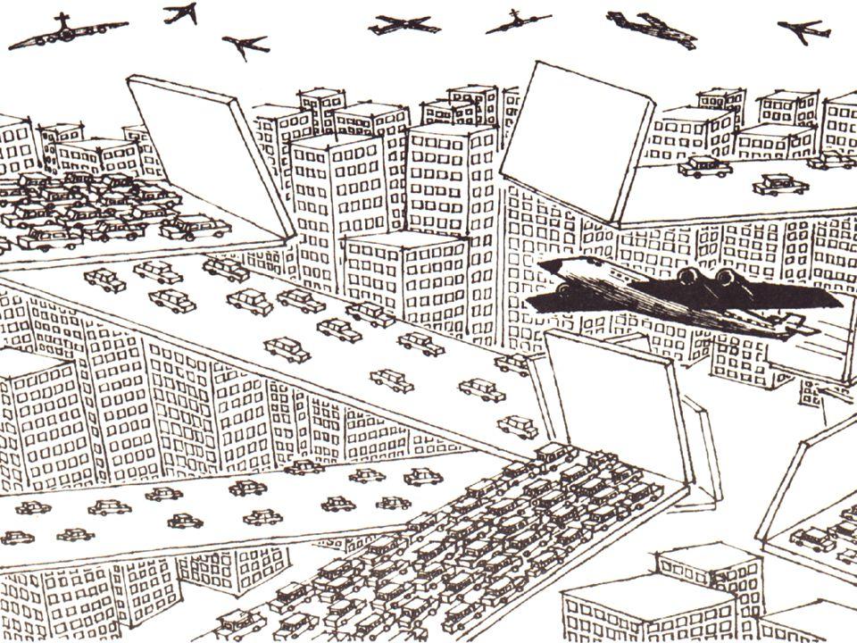 Nas cidades o tráfego rodoviário é intenso, causando grandes impactos ambientais: poluição sonora e atmosférica.