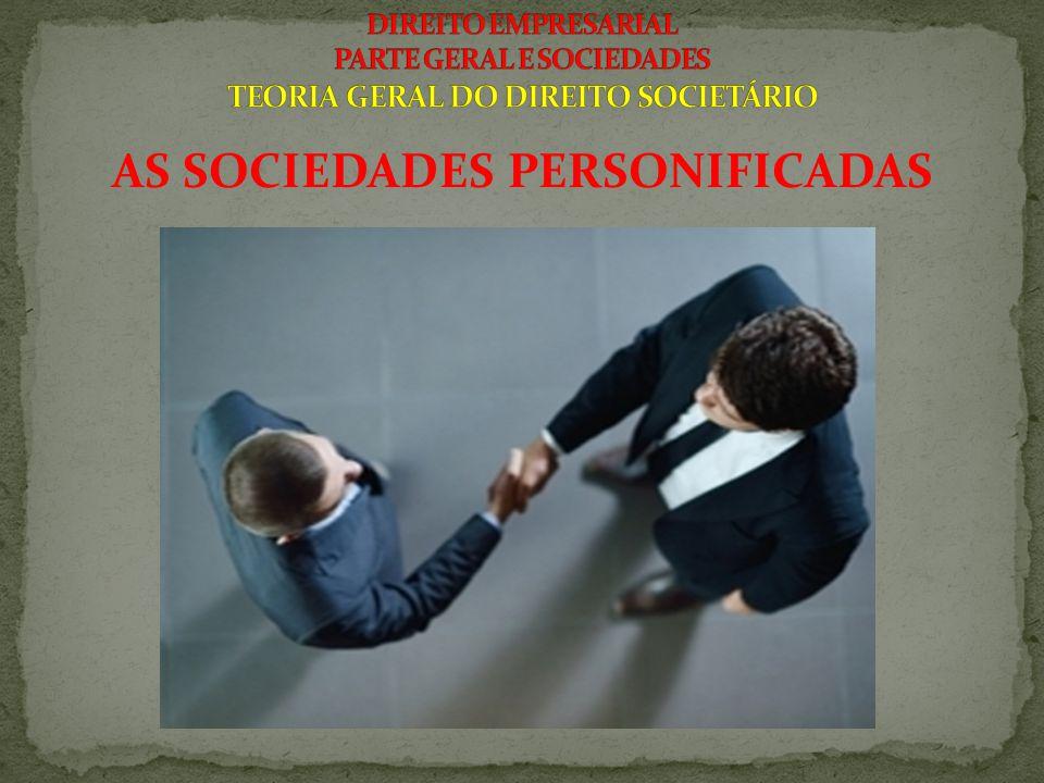 AS SOCIEDADES PERSONIFICADAS