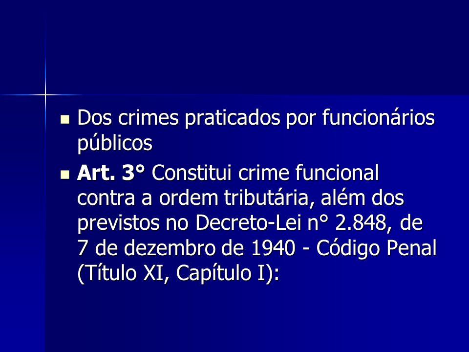 Dos crimes praticados por funcionários públicos