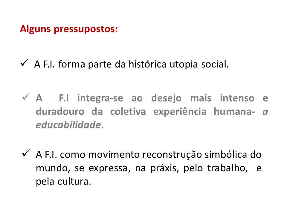 Alguns pressupostos: A F.I. forma parte da histórica utopia social.