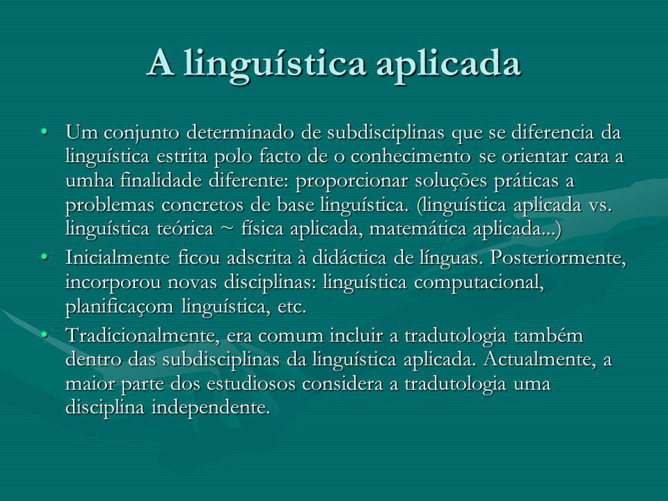 A linguística aplicada