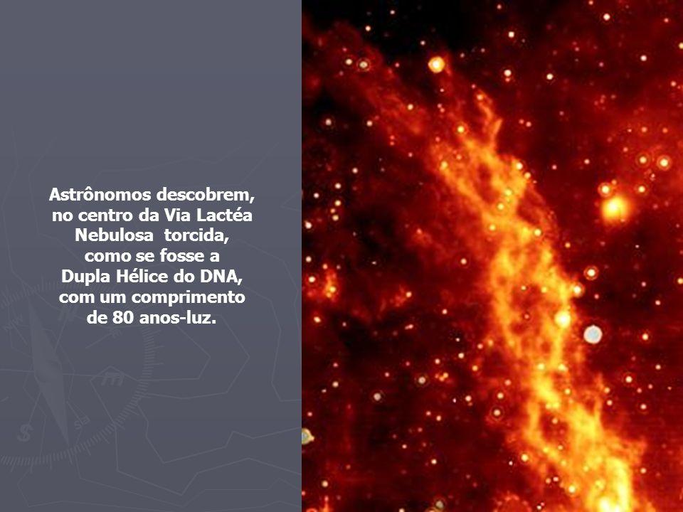 no centro da Via Lactéa Nebulosa torcida,