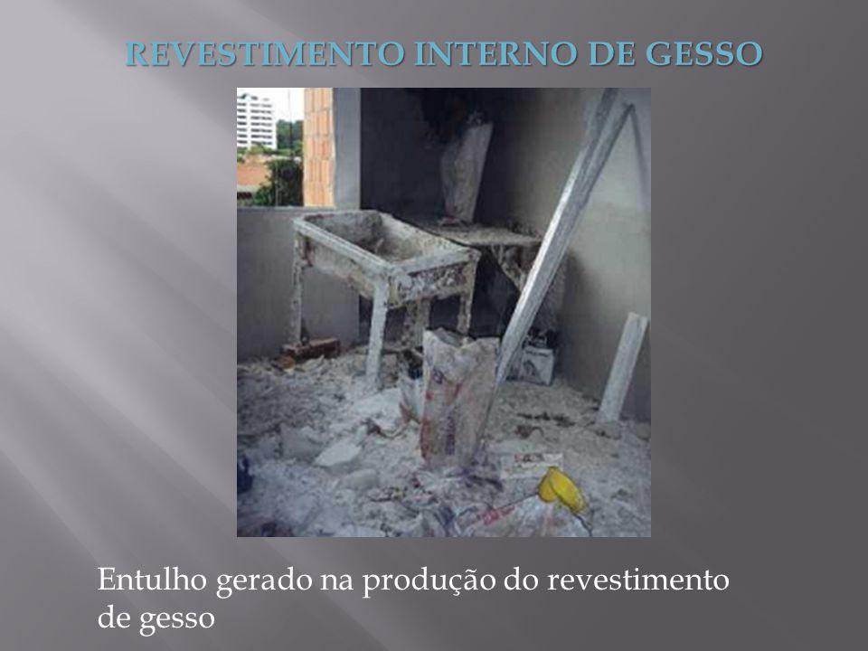 REVESTIMENTO INTERNO DE GESSO