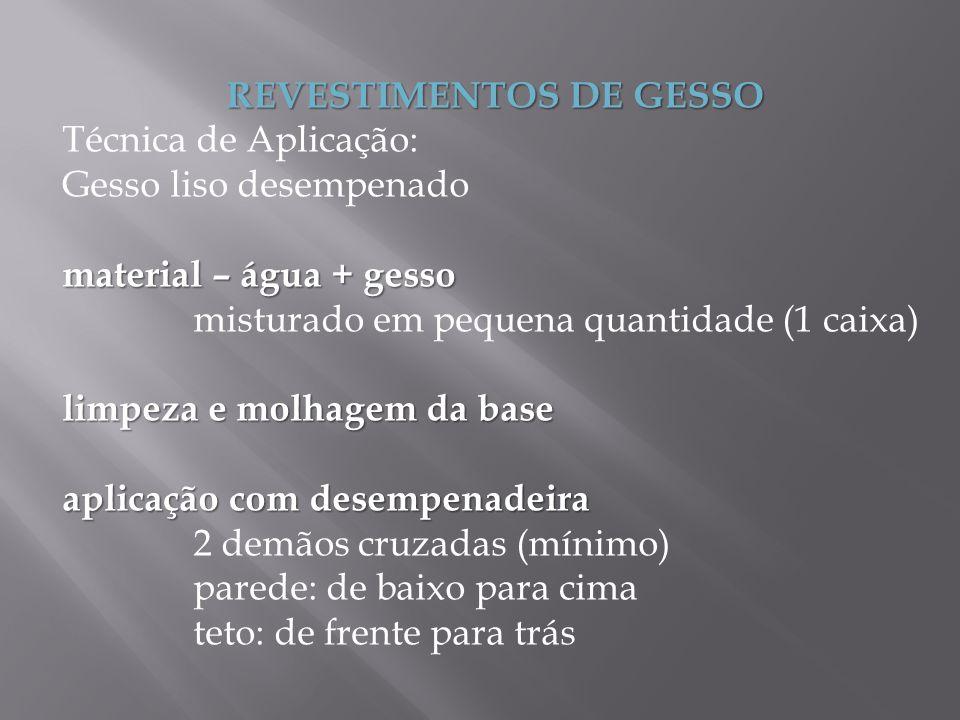 REVESTIMENTOS DE GESSO