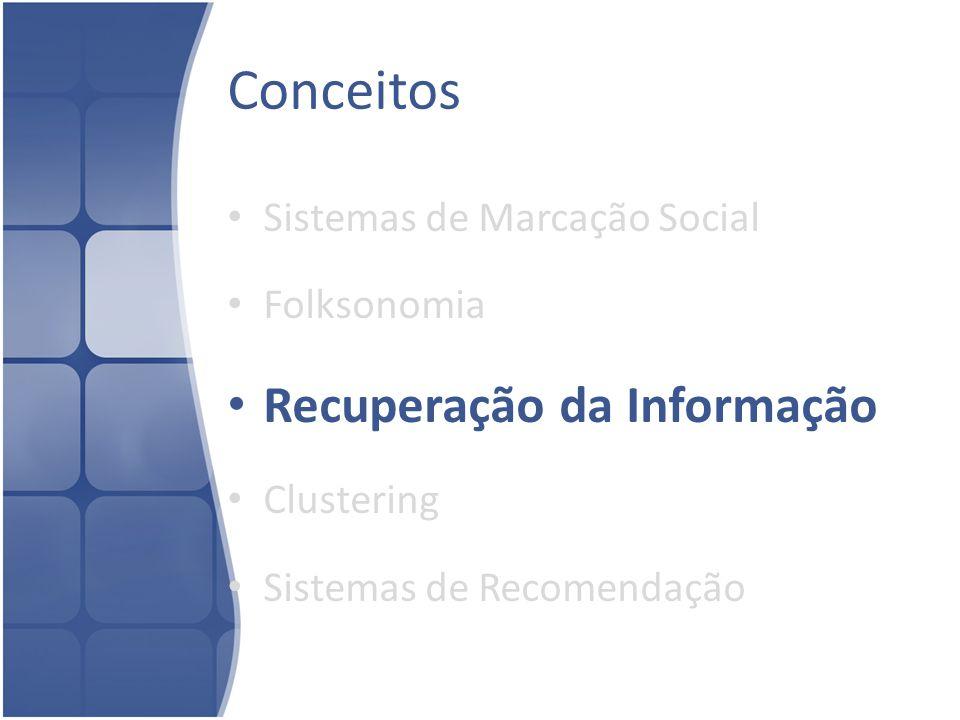 Conceitos Recuperação da Informação Sistemas de Marcação Social