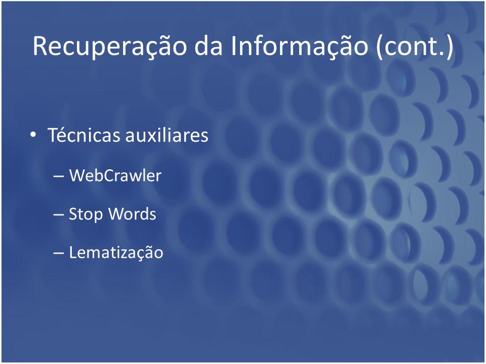 Recuperação da Informação (cont.)