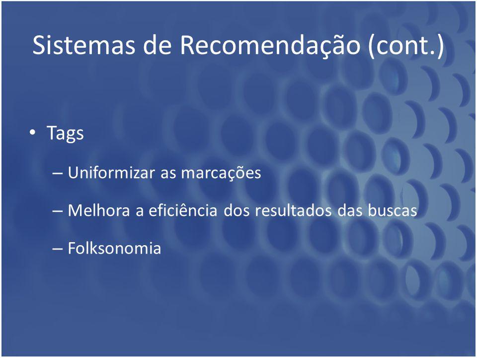 Sistemas de Recomendação (cont.)