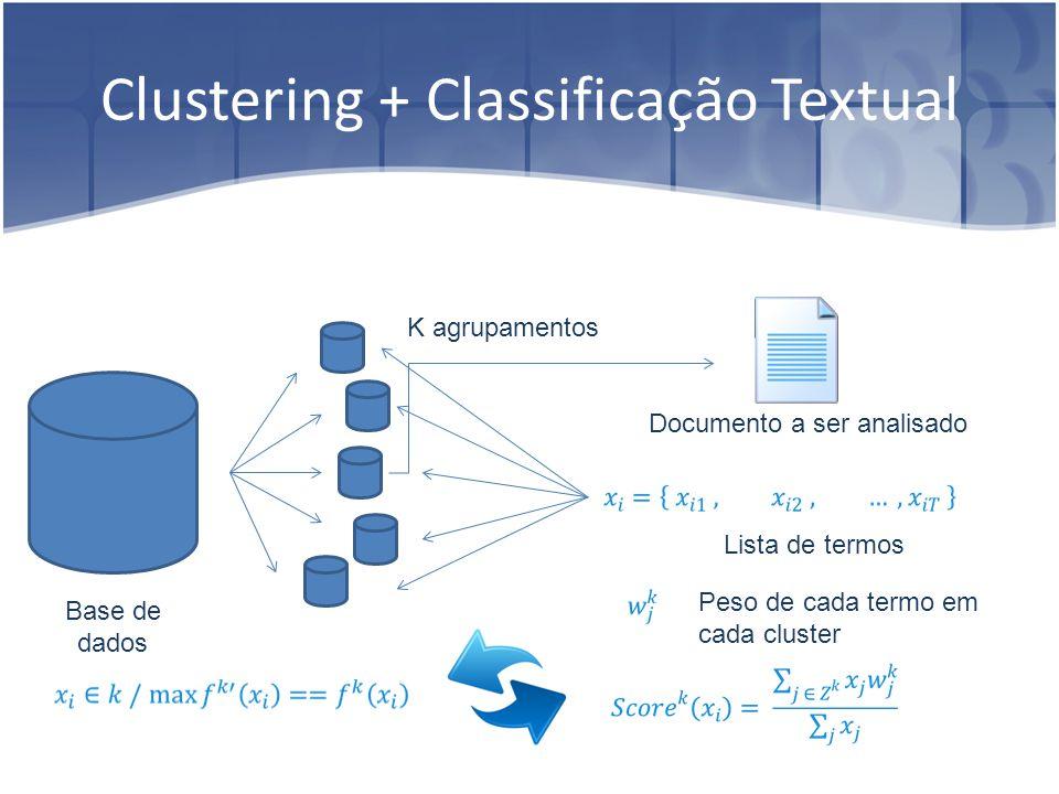 Clustering + Classificação Textual