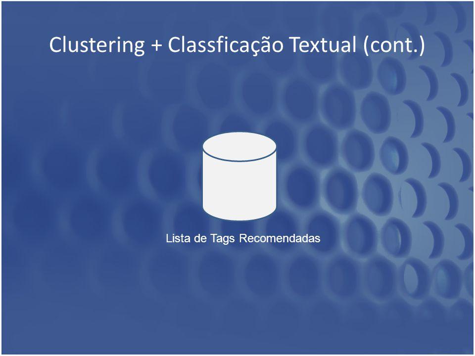 Clustering + Classficação Textual (cont.)
