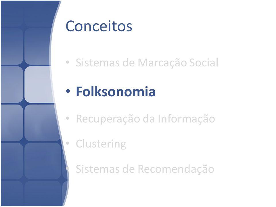 Conceitos Folksonomia Sistemas de Marcação Social