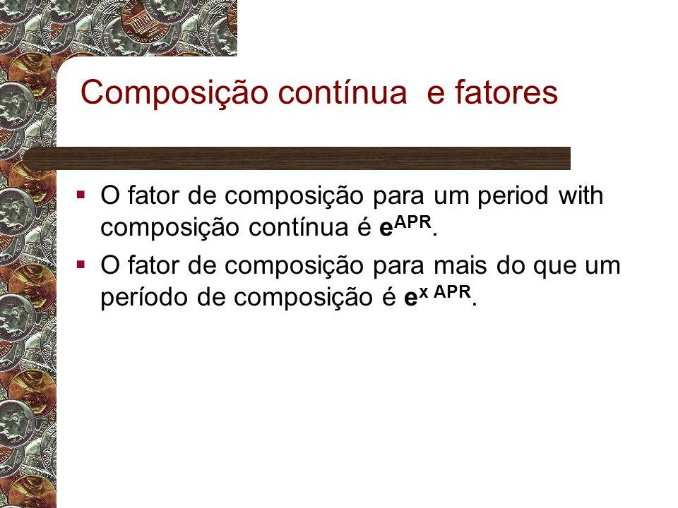 Composição contínua e fatores