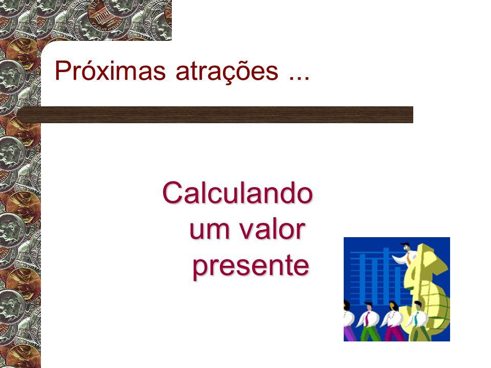 Calculando um valor presente