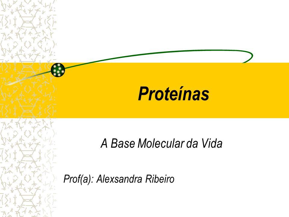 A Base Molecular da Vida Prof(a): Alexsandra Ribeiro