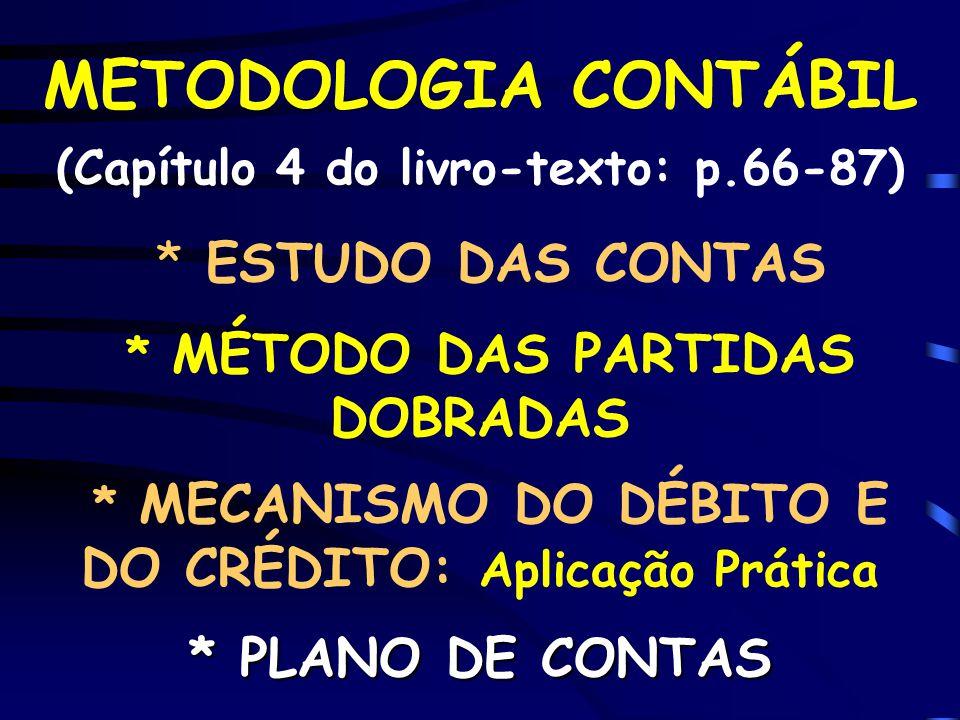 METODOLOGIA CONTÁBIL (Capítulo 4 do livro-texto: p. 66-87)