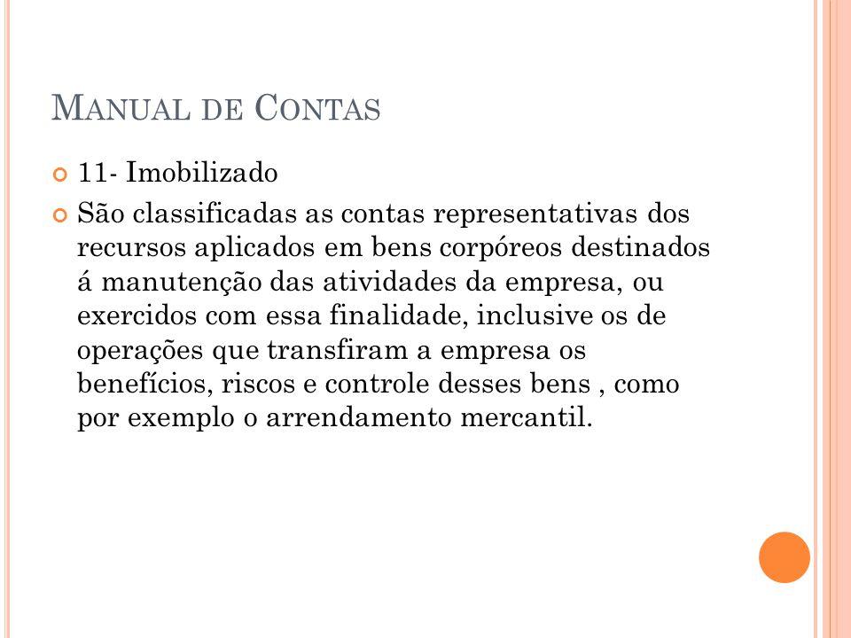 Manual de Contas 11- Imobilizado