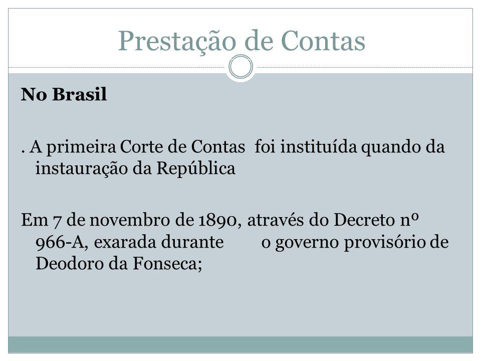 Prestação de Contas No Brasil