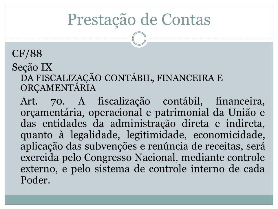 Prestação de Contas CF/88