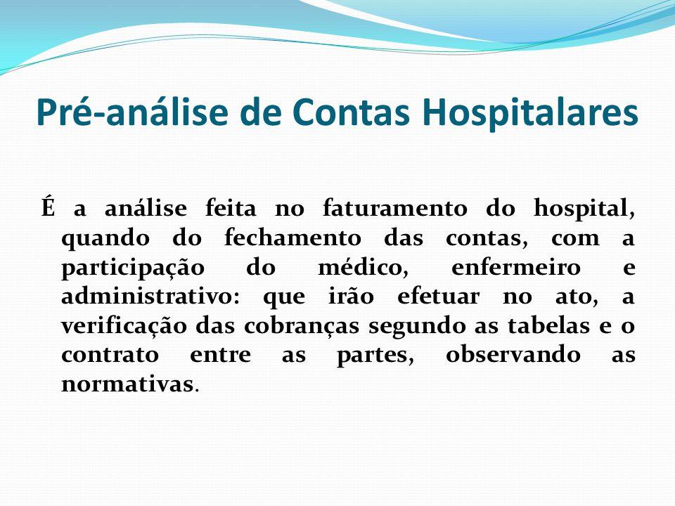 Pré-análise de Contas Hospitalares