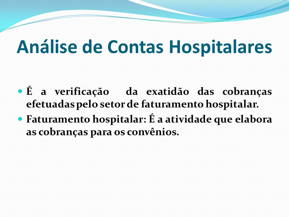 Análise de Contas Hospitalares