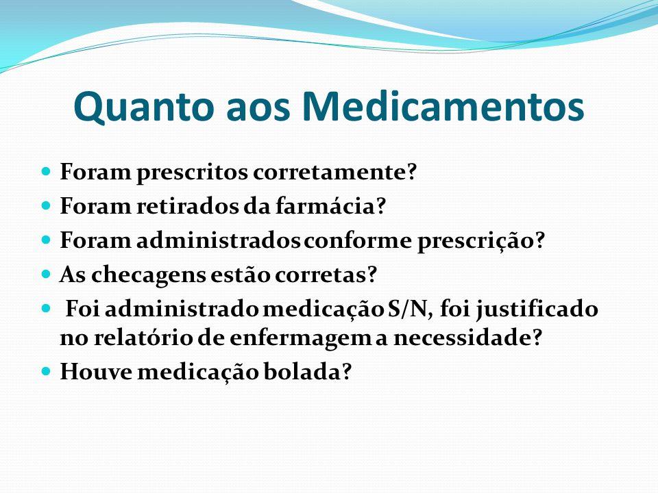 Quanto aos Medicamentos