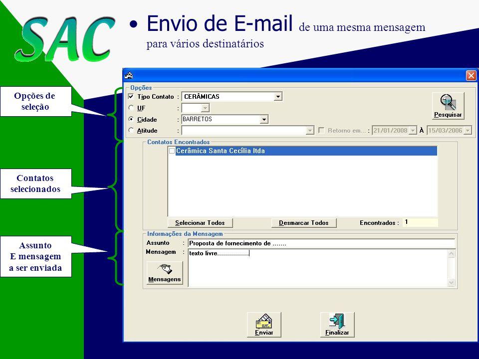 Envio de E-mail de uma mesma mensagem para vários destinatários