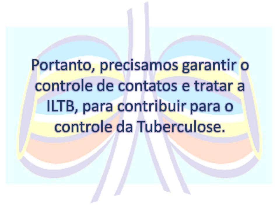 Portanto, precisamos garantir o controle de contatos e tratar a ILTB, para contribuir para o controle da Tuberculose.