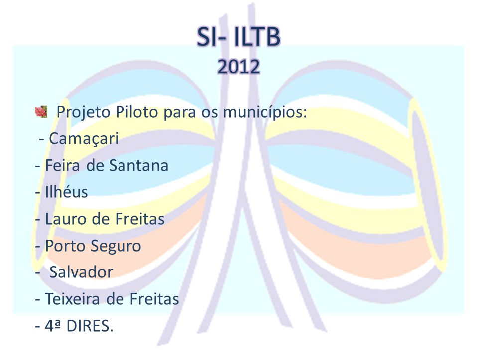 SI- ILTB 2012 Projeto Piloto para os municípios: - Camaçari