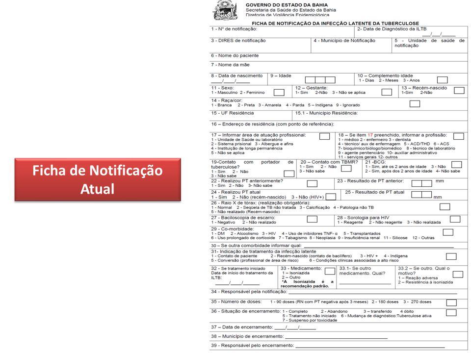 Ficha de Notificação Atual