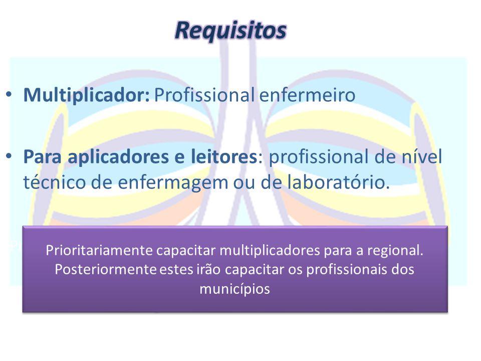 Requisitos Multiplicador: Profissional enfermeiro