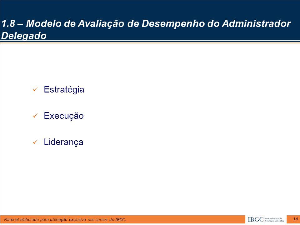 1.8 – Modelo de Avaliação de Desempenho do Administrador Delegado