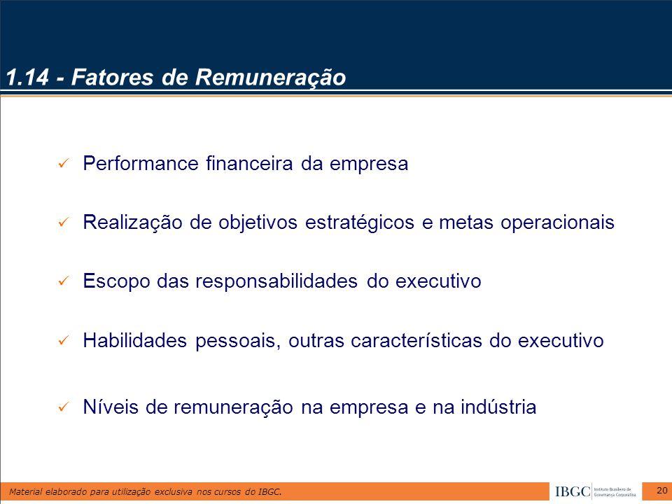 1.14 - Fatores de Remuneração