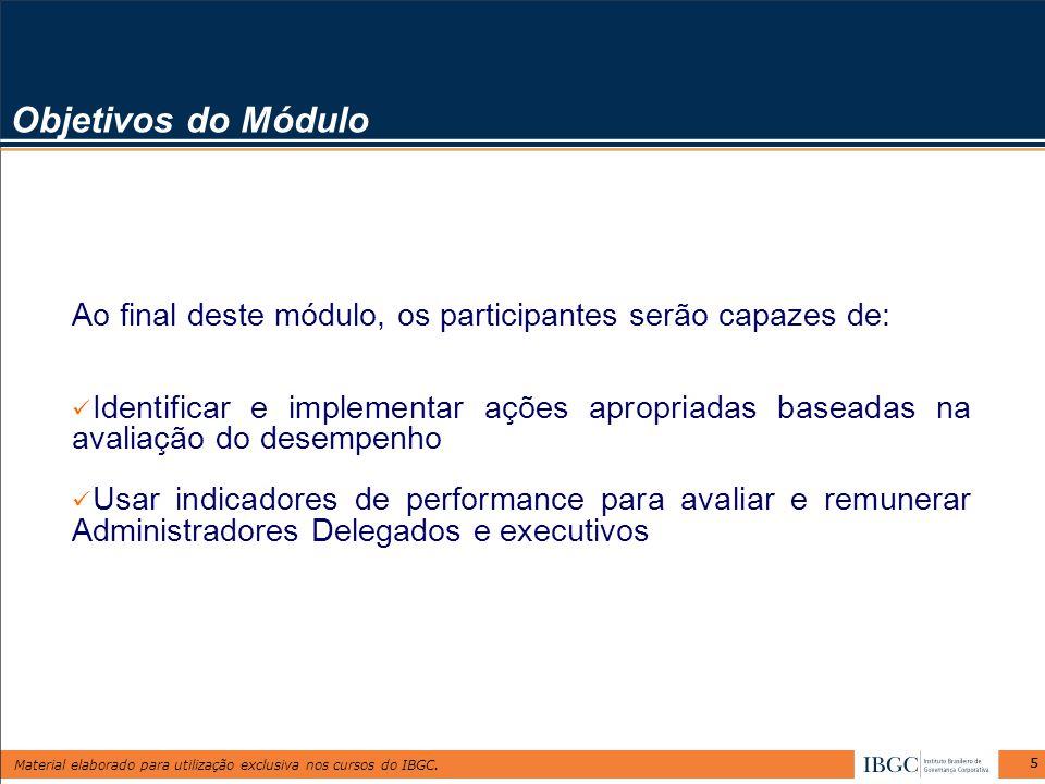 Objetivos do Módulo Ao final deste módulo, os participantes serão capazes de: