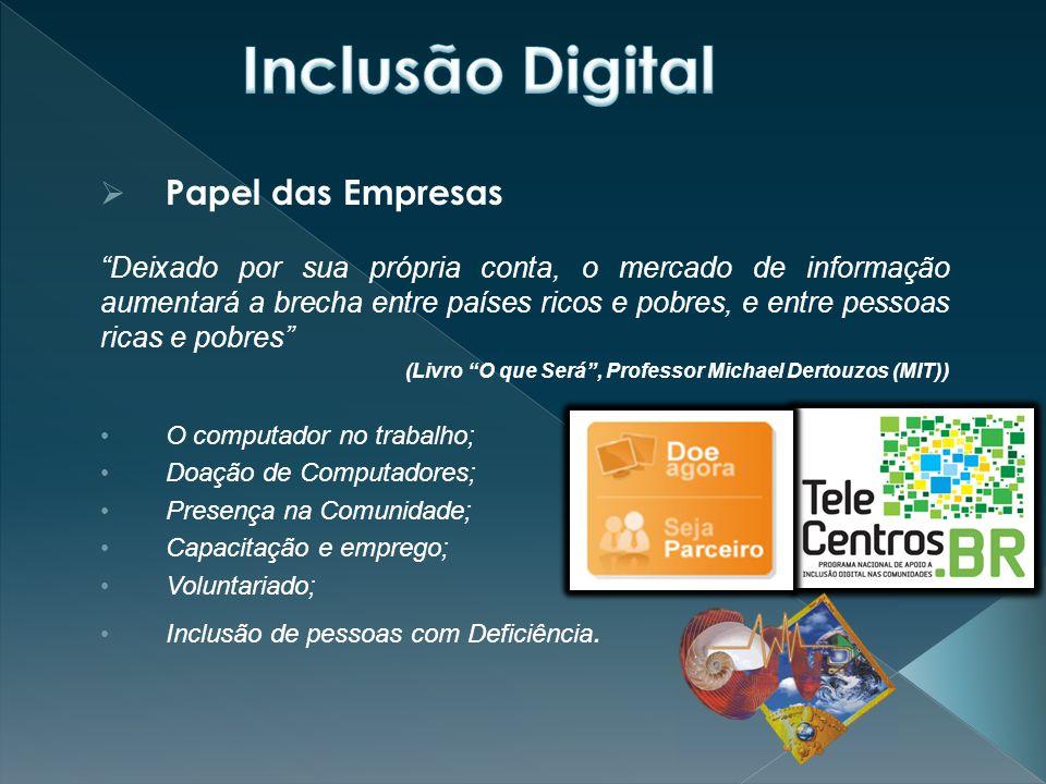 Inclusão Digital Papel das Empresas