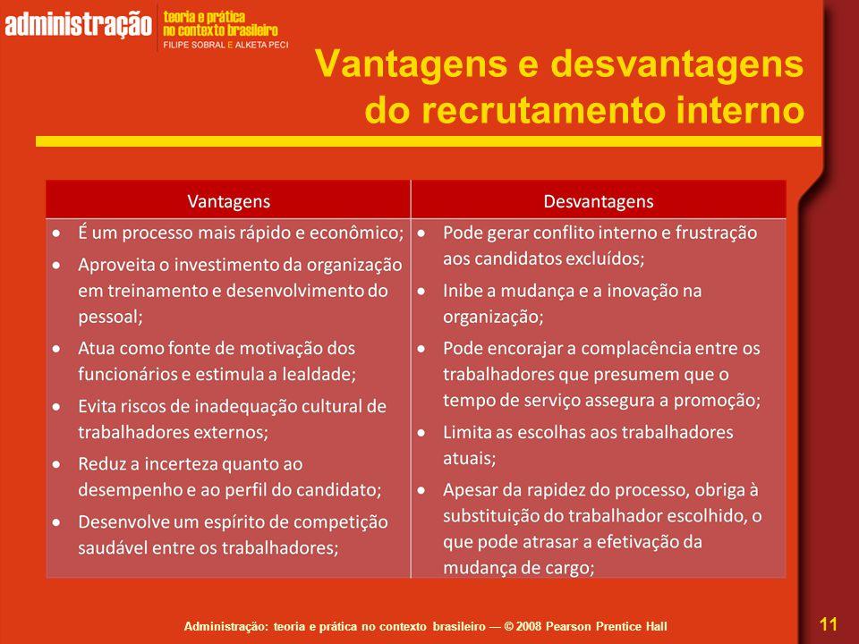 Vantagens e desvantagens do recrutamento interno