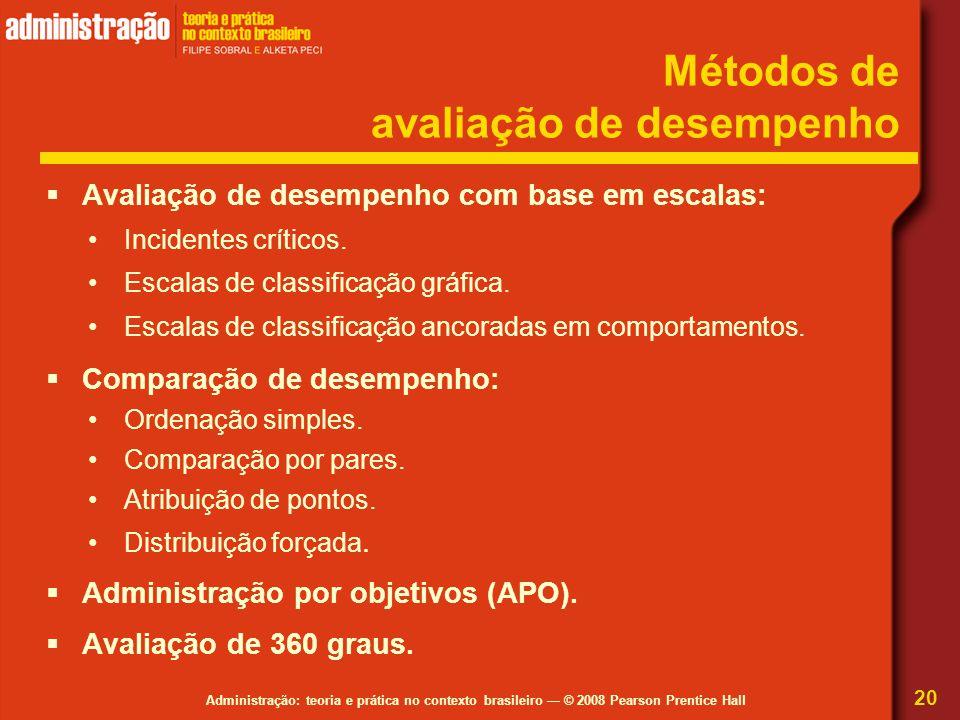 Métodos de avaliação de desempenho