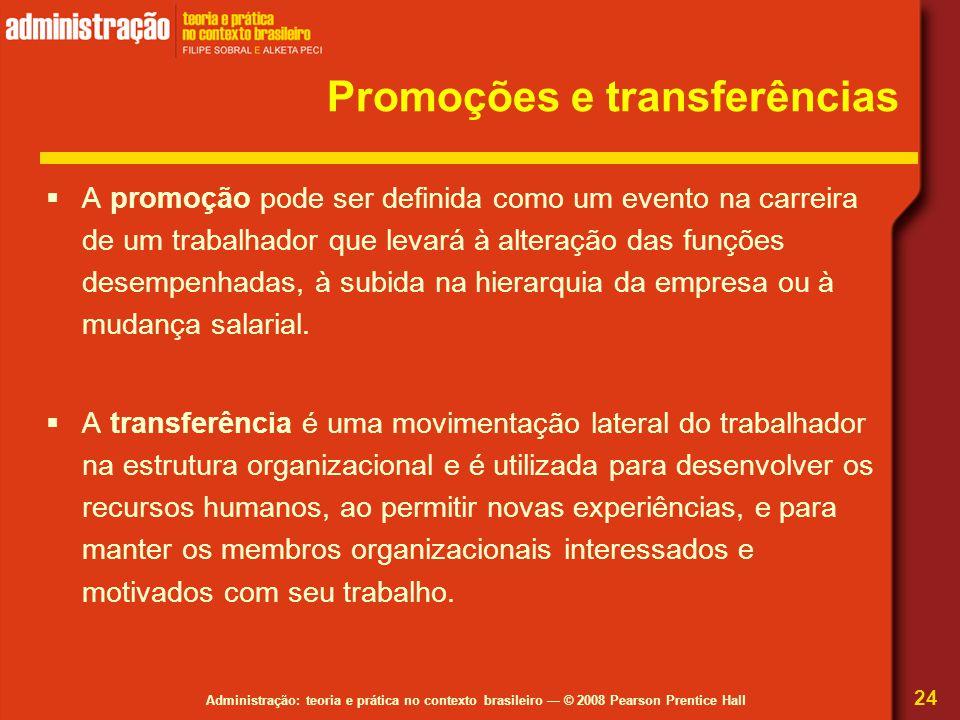 Promoções e transferências