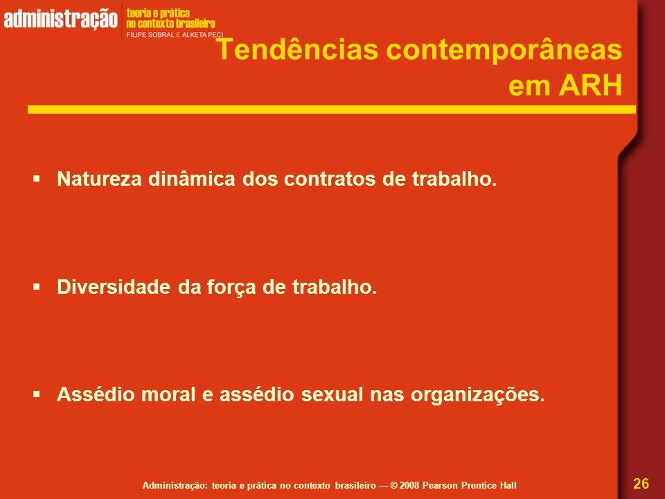 Tendências contemporâneas em ARH