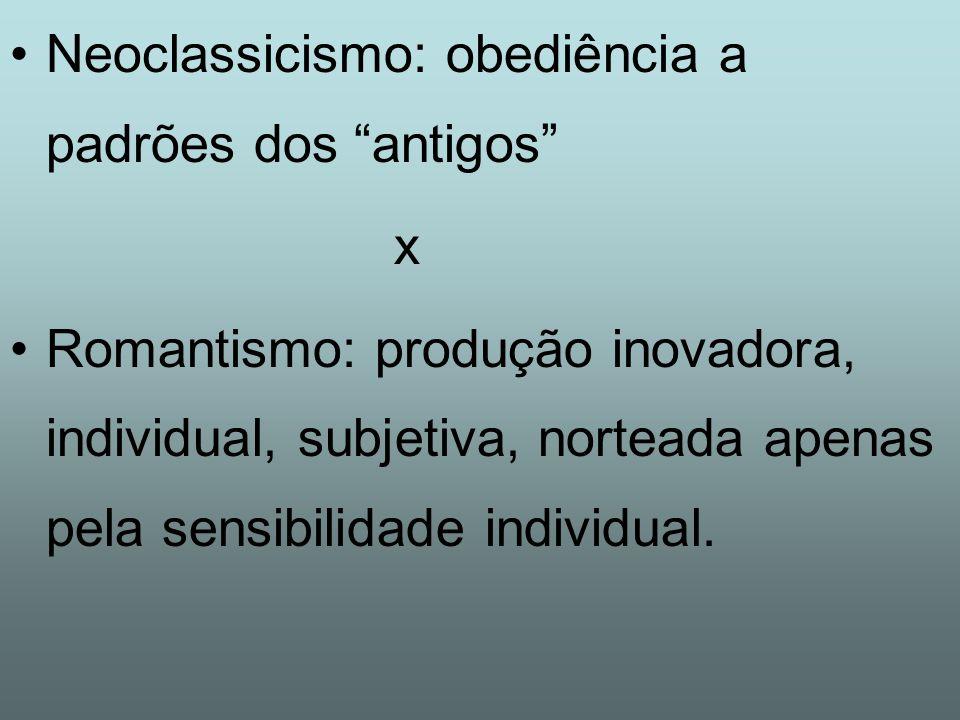 Neoclassicismo: obediência a padrões dos antigos