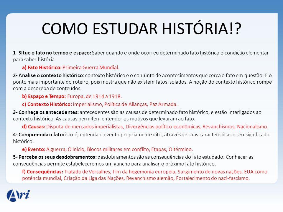 COMO ESTUDAR HISTÓRIA!