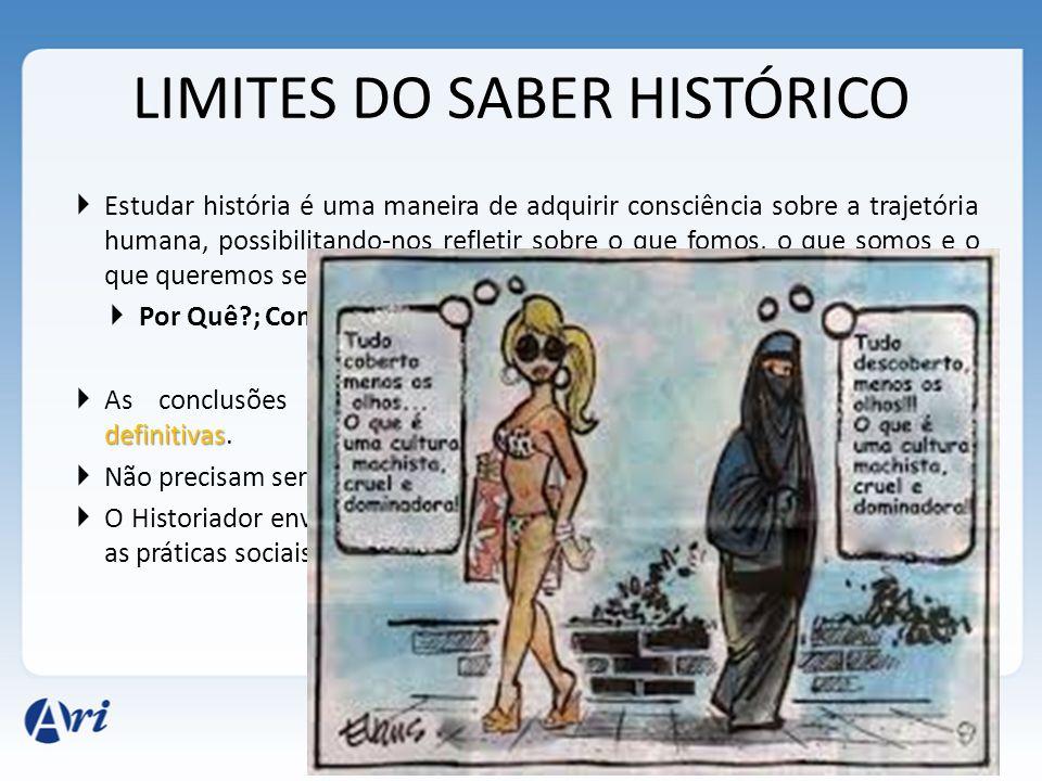 LIMITES DO SABER HISTÓRICO