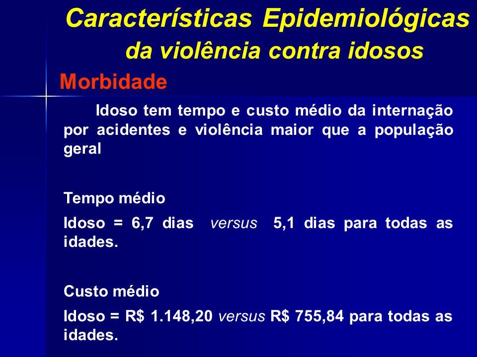 Características Epidemiológicas da violência contra idosos
