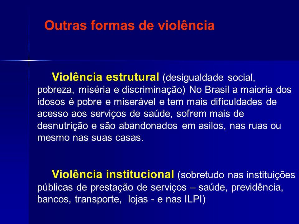 Outras formas de violência