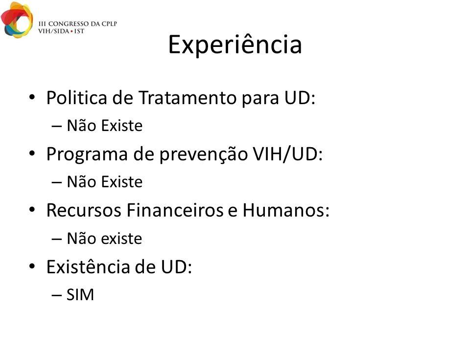 Experiência Politica de Tratamento para UD: