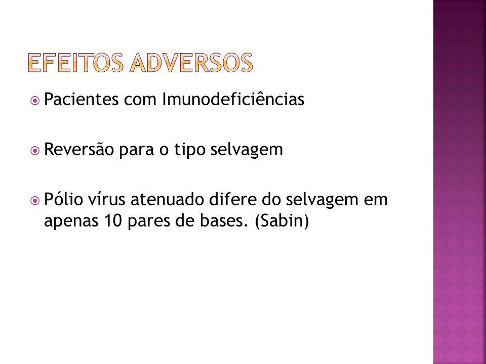 Efeitos adversos Pacientes com Imunodeficiências
