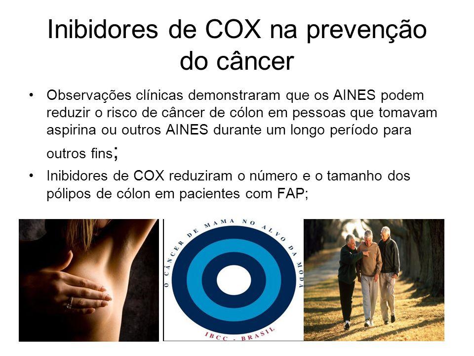 Inibidores de COX na prevenção do câncer
