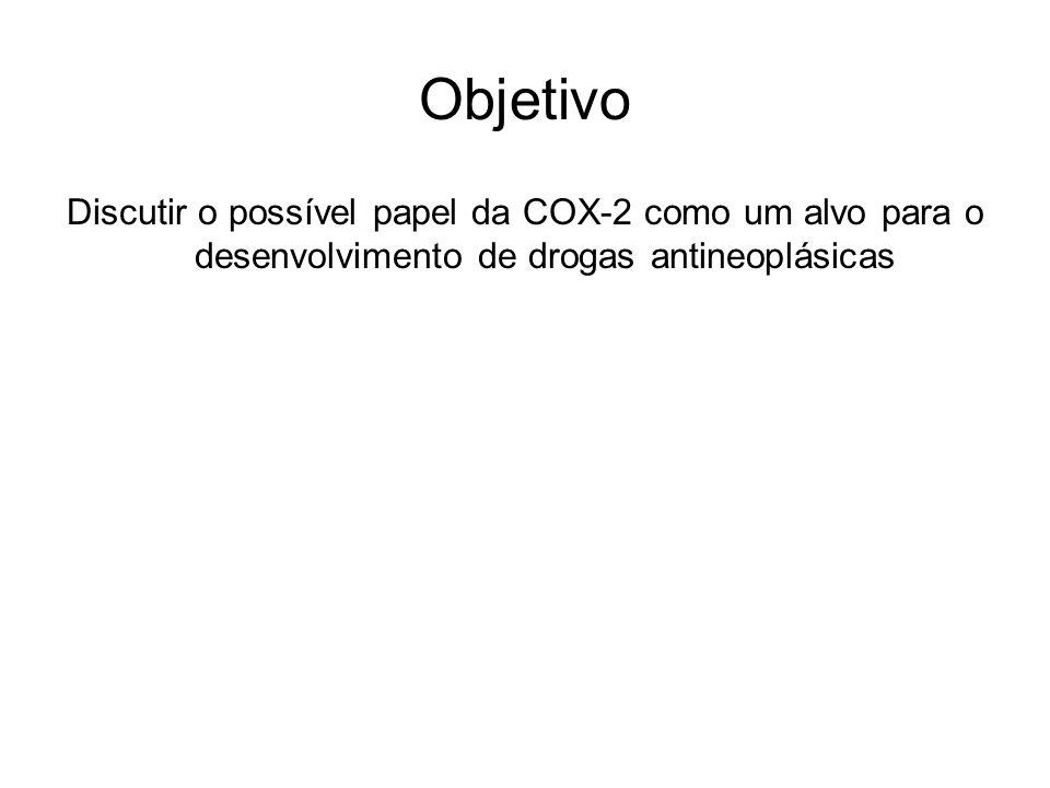 Objetivo Discutir o possível papel da COX-2 como um alvo para o desenvolvimento de drogas antineoplásicas.