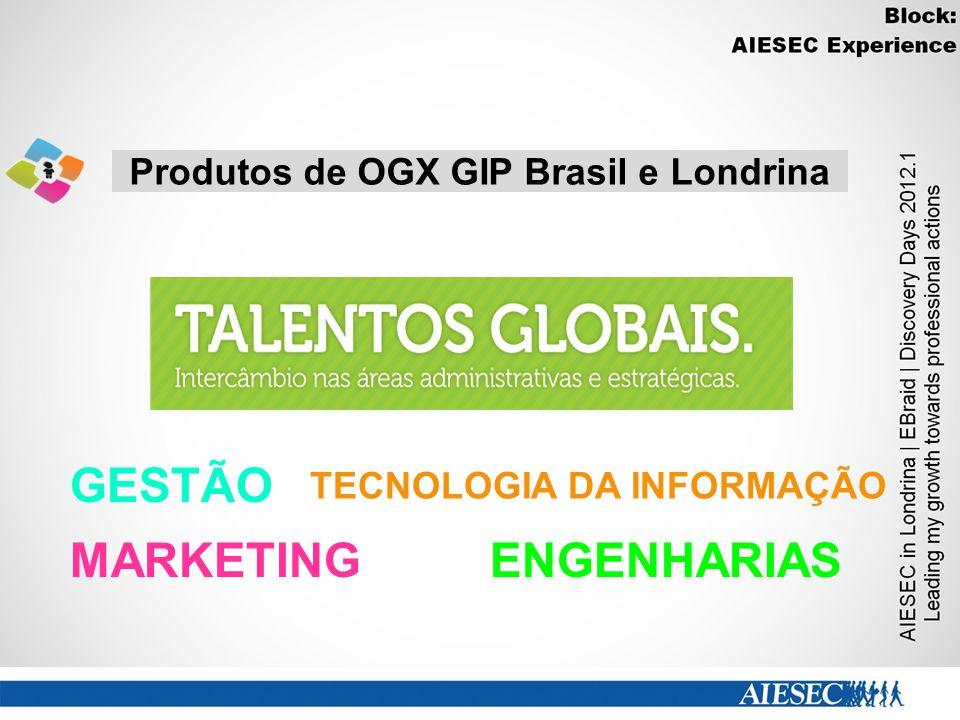 Produtos de OGX GIP Brasil e Londrina