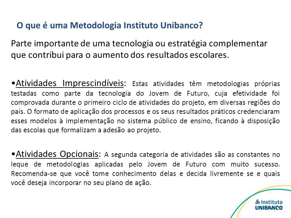 O que é uma Metodologia Instituto Unibanco